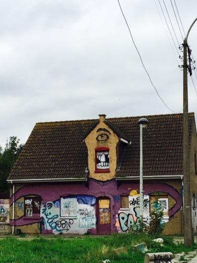 Doel Belgium, Graffiti Ghost Town